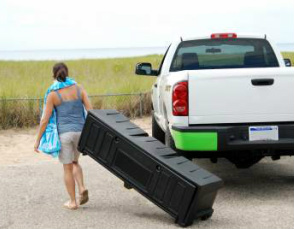 Portable storage box for trucks