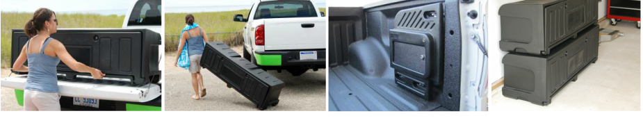 Portable storage box for pickups