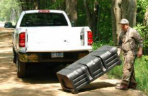 Portable truck bed box for camping gear