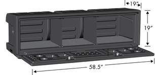 AeroBox Truck Bed Cargo Box Dimensions