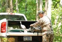 Truck cargo box for hunting gear