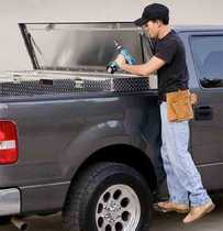 Tailgate cargo box makes work easier
