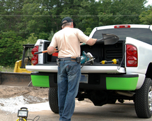 Pickup bed cargo box for small tools