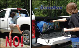 Easy access tailgate cargo box