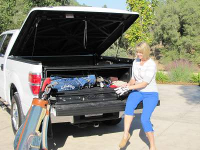Truck bed box with Tonneau cover