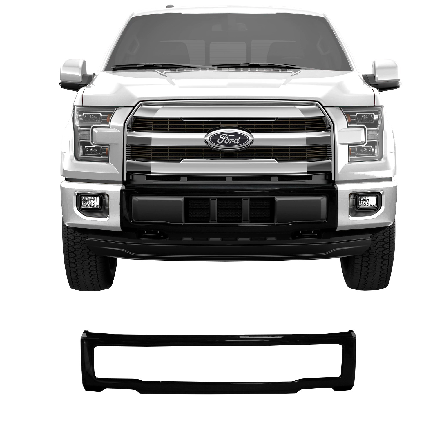 2015 2017 F 150 Front Bumpershellz Center Bumper Cover Only